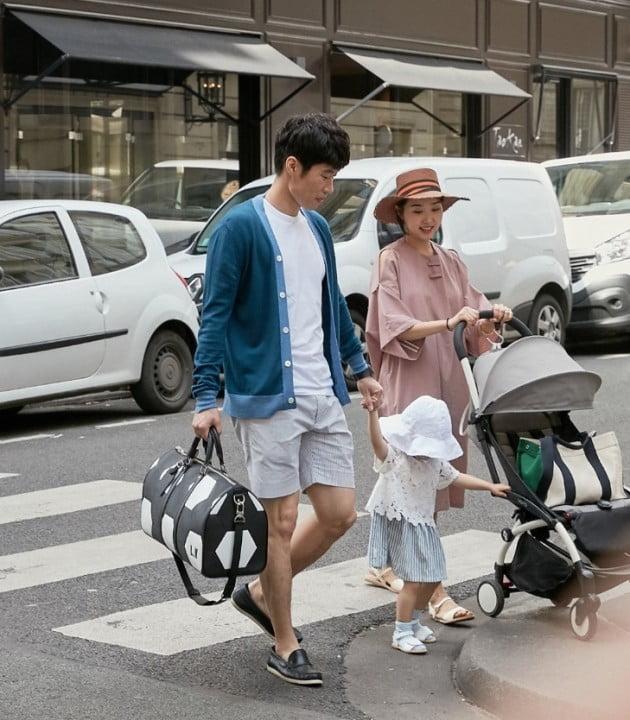 박지성 가족 /사진=루이비통
