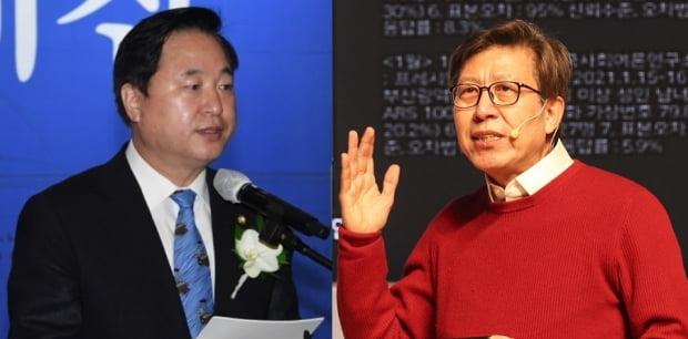 김두관 더불어민주당 의원(왼쪽)과 박형준 국민의힘 부산시장 예비후보. 사진=연합뉴스