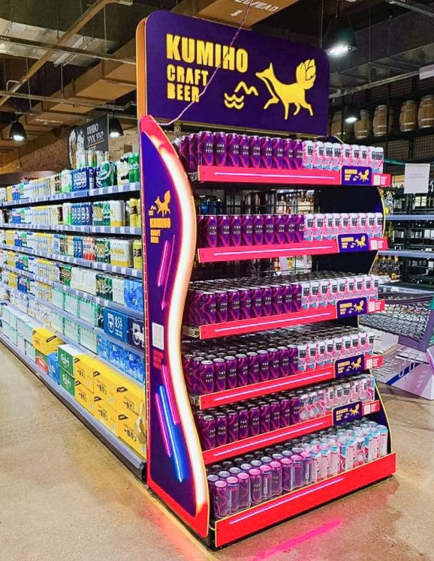 대만 편의점 간 '구미호 맥주' …해외 시장 확장하는 카브루