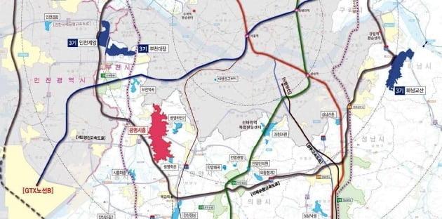 6번째 3기신도시로 지정된 광명시흥 위치도. / 자료=국토교통부