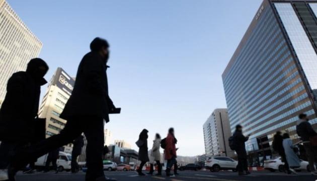 광화문 일대 직장인들 모습. [사진=뉴스1]