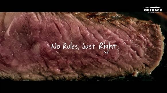 아웃백 브랜드 캠페인 'NO RULES, JUST RIGHT' 영상 (사진을 클릭하시면 동영상을 보실 수 있습니다)