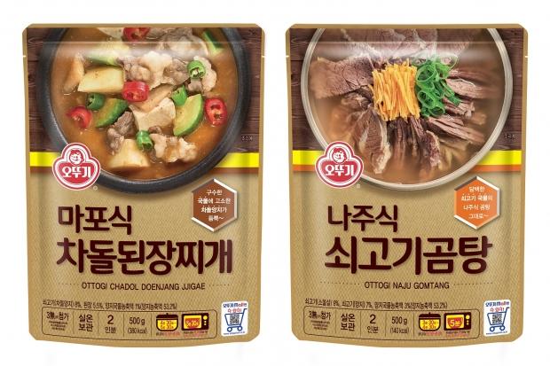 오뚜기와 함께 전국 맛집 여행! '마포식 차돌된장찌개', '나주식 쇠고기곰탕' 출시