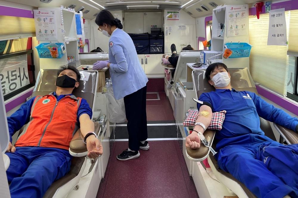 넥센타이어, 임직원 헌혈 캠페인 진행