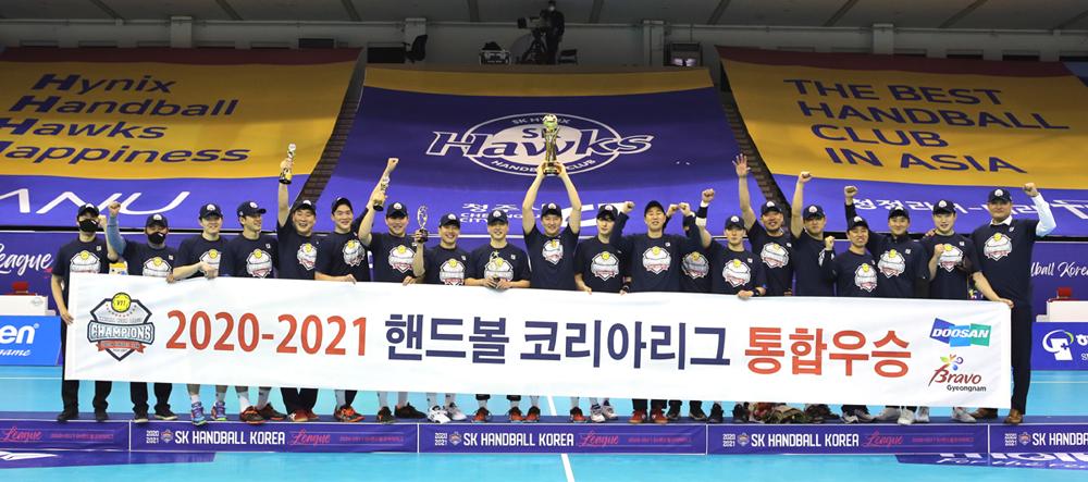 두산 핸드볼, 6년 연속 통합 우승