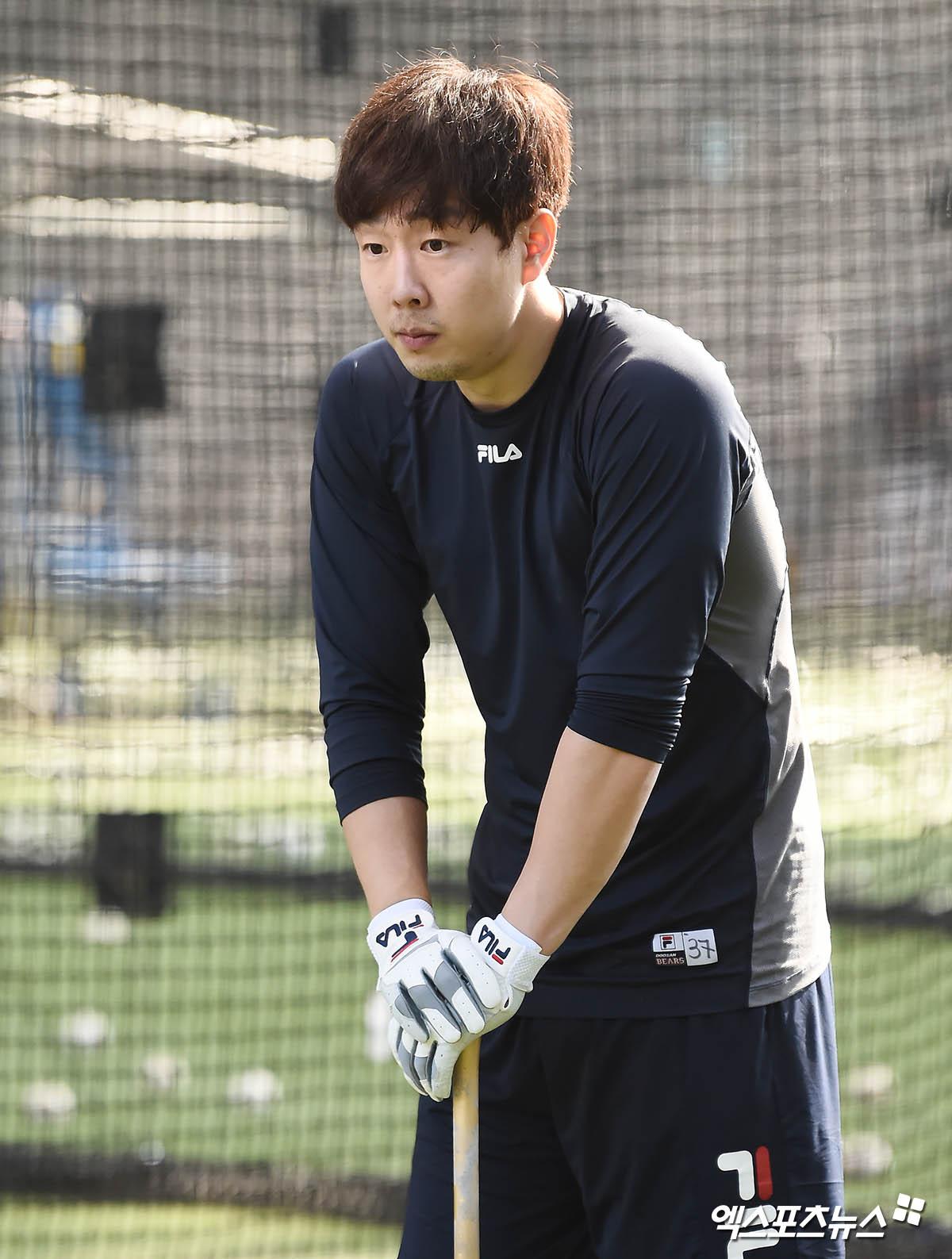 박건우 '잠깐 쉬어갈까'[포토]