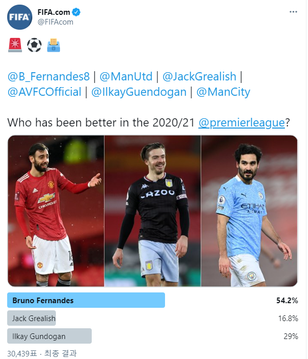 브루노vs그릴리쉬vs귄도안… 올 시즌 누가 더 잘했나?