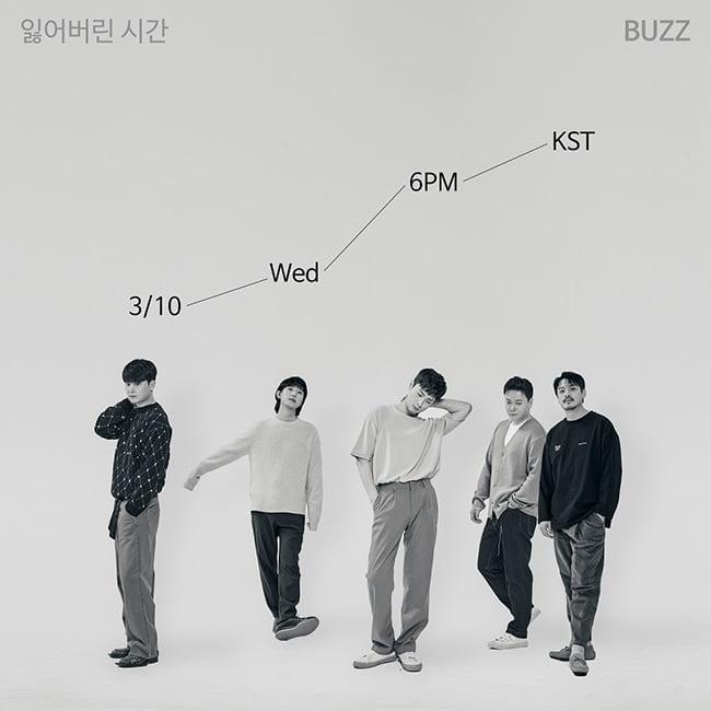 버즈, 세 번째 미니앨범 `잃어버린 시간` 3월 10일 발매…티저 이미지 공개