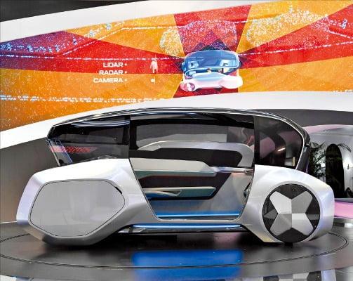 현대모비스가 'CES 2020'에서 선보인 자율주행 기반 도심 공유형 모빌리티 콘셉트 '엠비전 S'.  현대모비스 제공