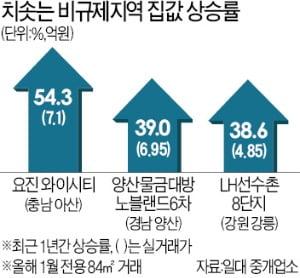 풍선효과 지속…아산·양산 아파트 '신고가 행진'