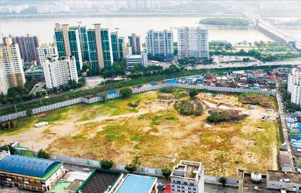 총 969가구 규모의 중대형 아파트가 들어설 예정인 서울 용산구 한강로3가 아세아아파트 특별계획구역 부지.  용산구  제공