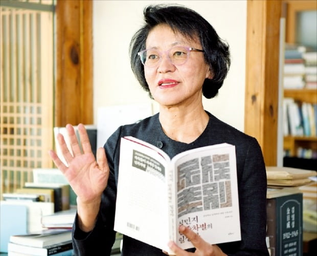 번역서보다 국내 저자 발굴에 힘쓴다는 박혜숙 푸른역사 대표.  /허문찬 기자 sweat@hankyung.com