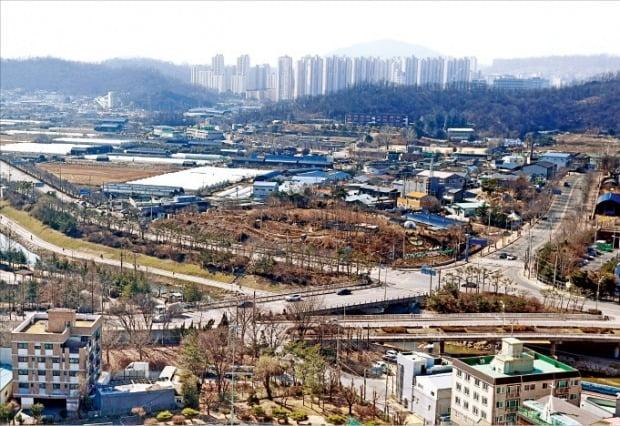 7만 가구 규모의 3기 신도시로 지정된 경기 광명시흥지구에 포함된 광명시 옥길동 일대. / 자료=한경DB