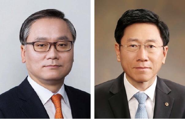 신현우 한화에어로스페이스 대표·김연철 한화시스템 사장 /한화그룹 제공