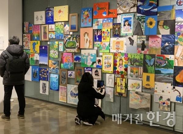 △1월 12일부터 24일까지 진행된 '갤러리 in 갤러리'. 서울시 성동구 소재의 공장갤러리에서 진행됐다.