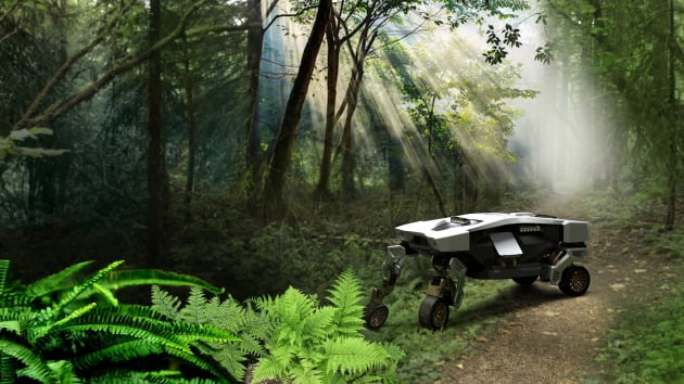 (사진) 현대차그룹이 최근 공개한 지상 이동 로봇 '타이거'. /현대차그룹 제공