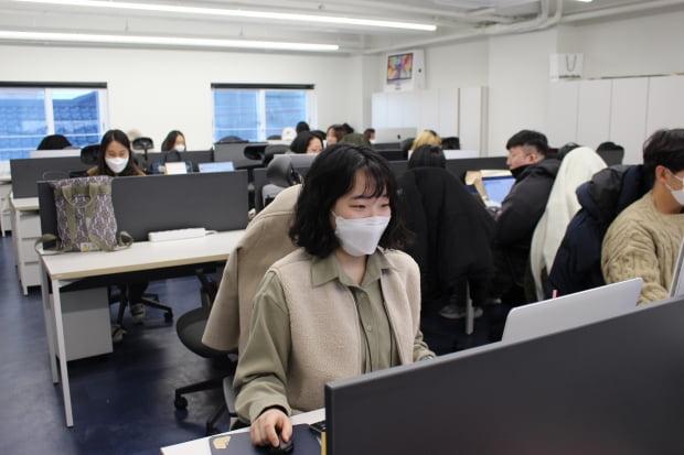 △일하고 있는 김소영 씨의 모습. 사진=전누리 대학생 기자