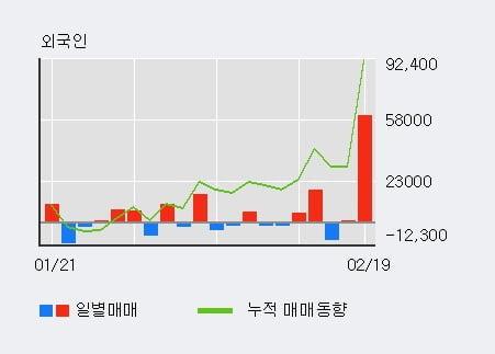 'KG케미칼' 52주 신고가 경신, 기관 6일 연속 순매수(5,294주)