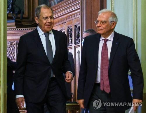 """러 외무 """"러-EU 관계 바닥…EU가 지속해 관계 훼손"""" 주장"""