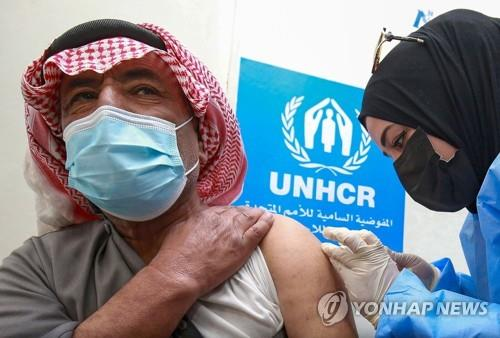 요르단서 세계 첫 난민촌 코로나19 백신접종 개시
