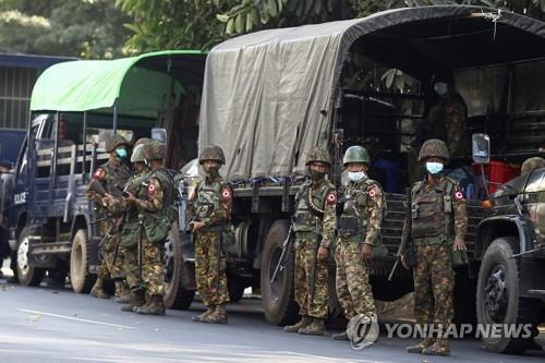 미얀마 또 일촉즉발…군 병력 양곤 진입설에 대규모 시위 예고