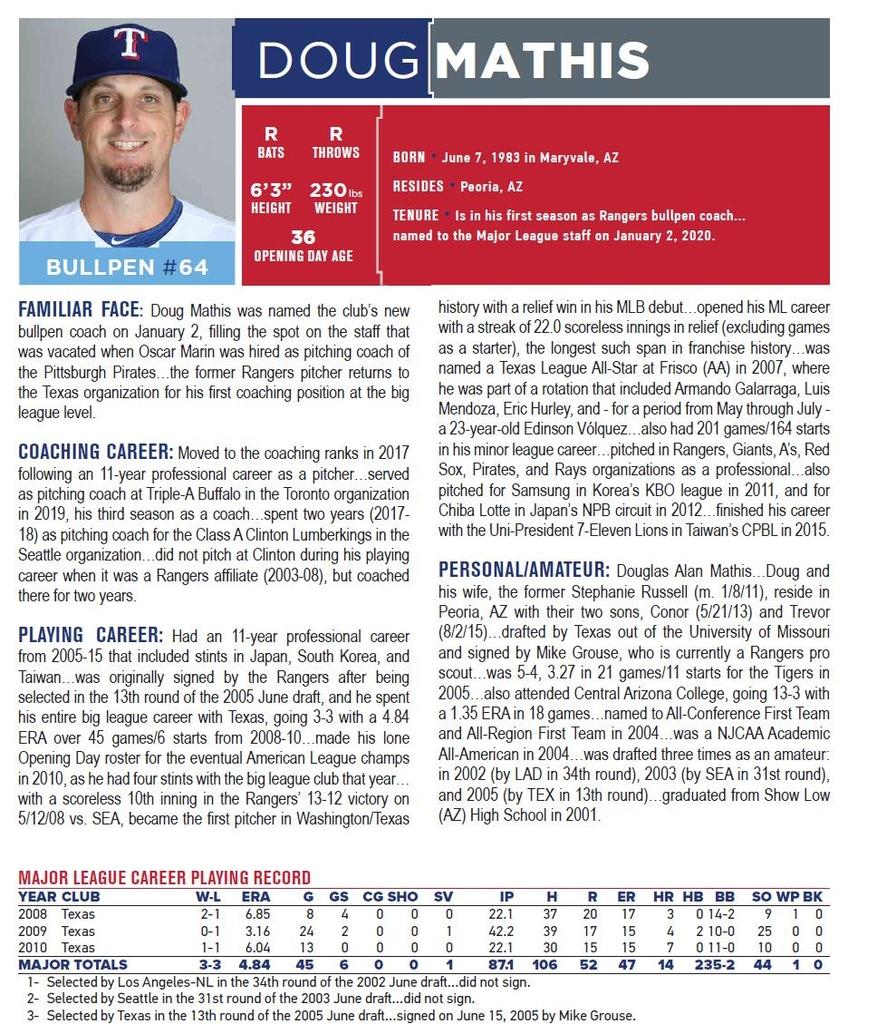 """MLB 텍사스 투수코치 """"양현종 내구성·제구·변화구 다 뛰어나"""""""