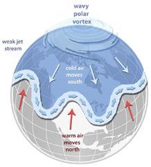 미국 이례적인 폭설과 한파는 북극 온난화 영향