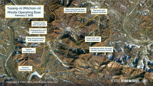 """미 싱크탱크 """"북한 유상리 'ICBM 기지'에 소규모 활동 지속"""""""