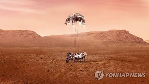 미 탐사 로버 7개월 여정끝 화성 착륙…생명체 흔적 탐사 착수(종합2보)