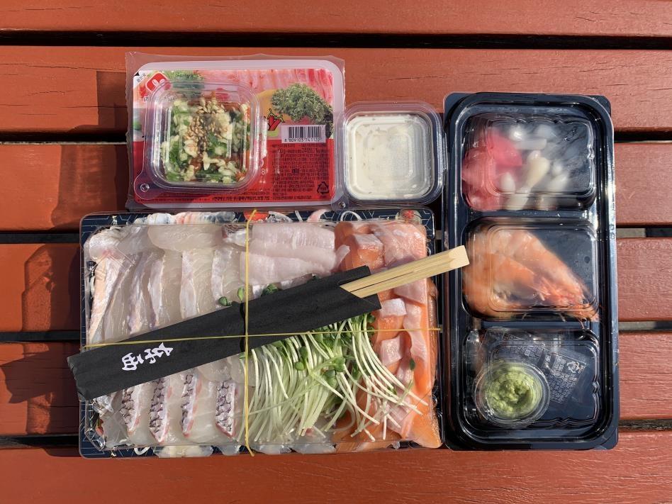 '코로나 불황' 도매시장도 회 1인분·사과 1개 판매