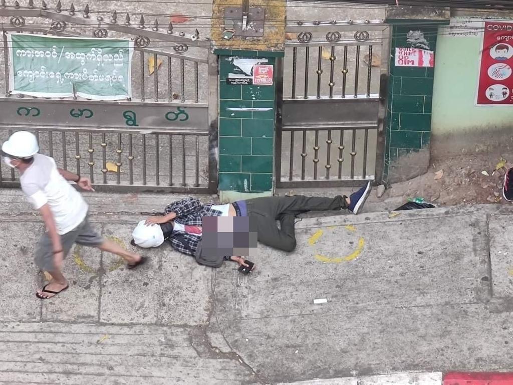 """미얀마 군부, 연이틀 강경 진압…""""1명 피격 사망, 수 명 부상"""""""