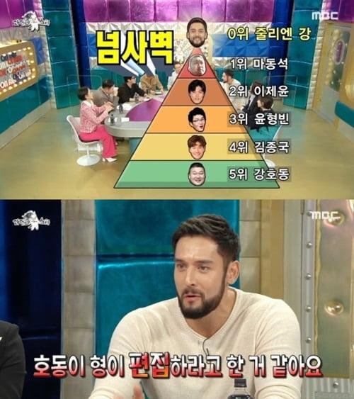"""줄리엔강, """"연예계 싸움서열 마동석·이재윤·윤형빈 순"""""""