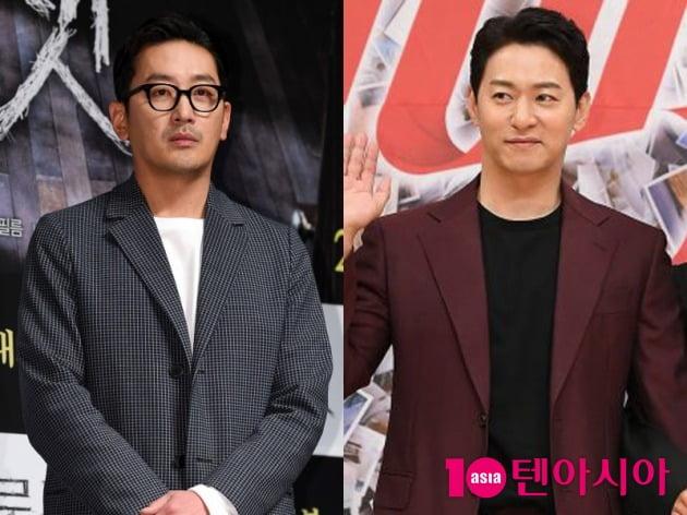 배우 하정우(왼쪽), 주진모 / 사진=텐아시아DB