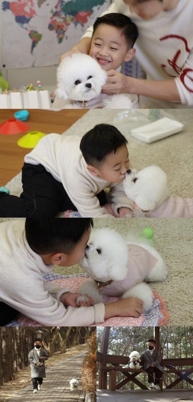 '편스토랑'에서 김재원 아들 이준이 강아지 돌보기에 나선다. / 사진제공=KBS