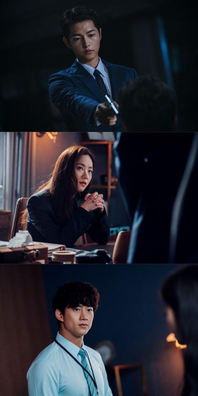 '빈센조' 배우 송중기, 전여빈, 옥택연./사진제공=tvN