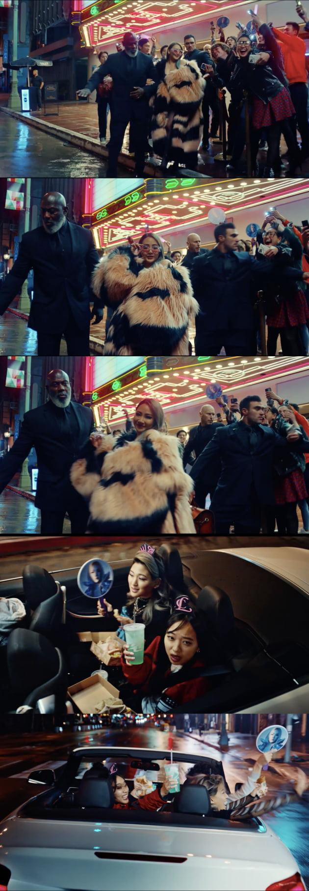가수 CL 미국 광고