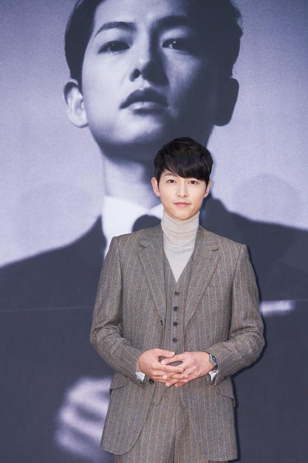 배우 송중기가 15일 오후 온라인 생중계된 tvN 새 토일드라마 '빈센조' 제작발표회에 참석했다. /사진제공=tvN