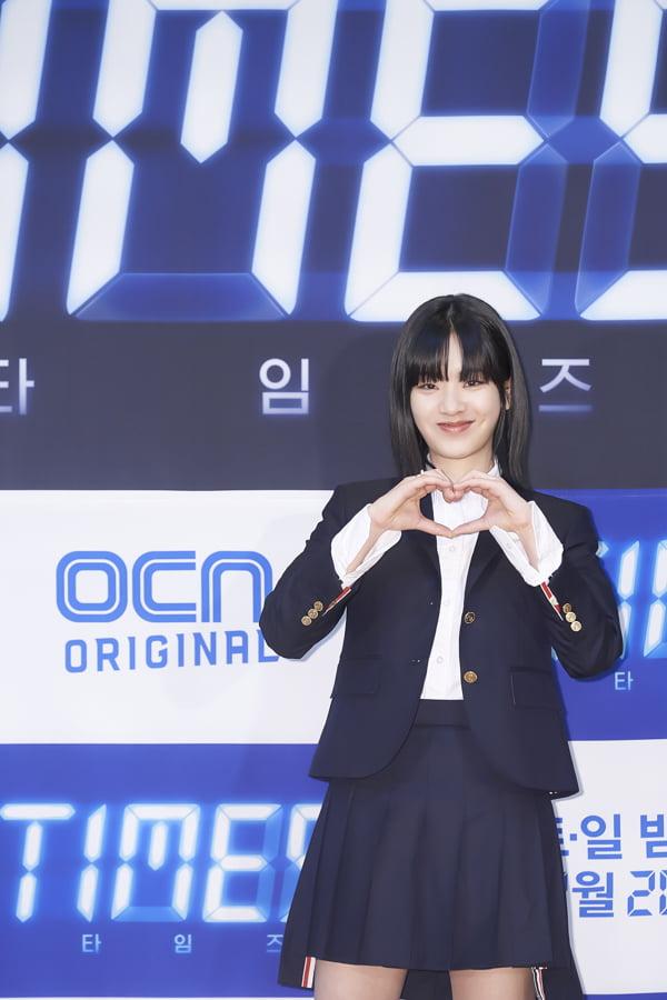 배우 이주영이 16일 오후 온라인 생중계된 OCN 새 토일 오리지널 '타임즈' 제작발표회에 참석했다. /사진제공=OCN