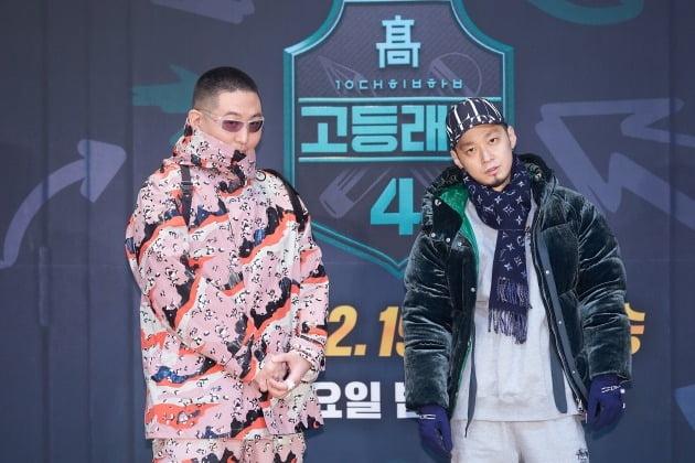 '고등래퍼4' 프로듀서 염따(왼쪽), 더콰이엇/ 사진=Mnet 제공