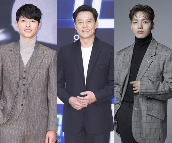 배우 송중기, 이서진, 여진구/ 사진=tvN, OCN, JANUS ENT