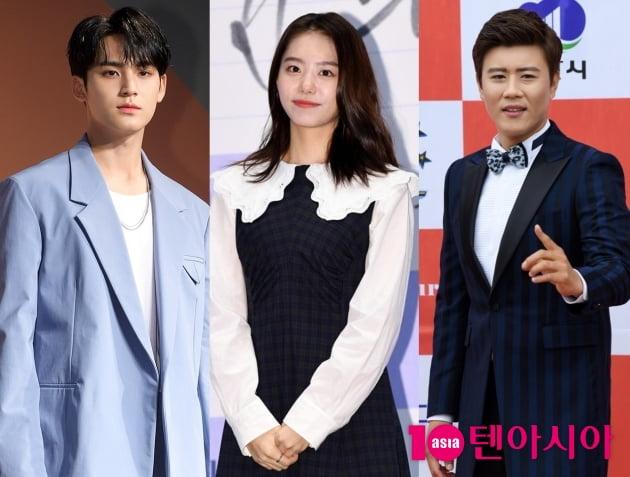 그룹 세븐틴 민규(왼쪽부터), 김소혜, 진해성 / 사진=텐아시아DB