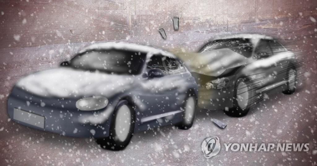 광주 신용지하차도서 10중 추돌사고…경상 2명 추정