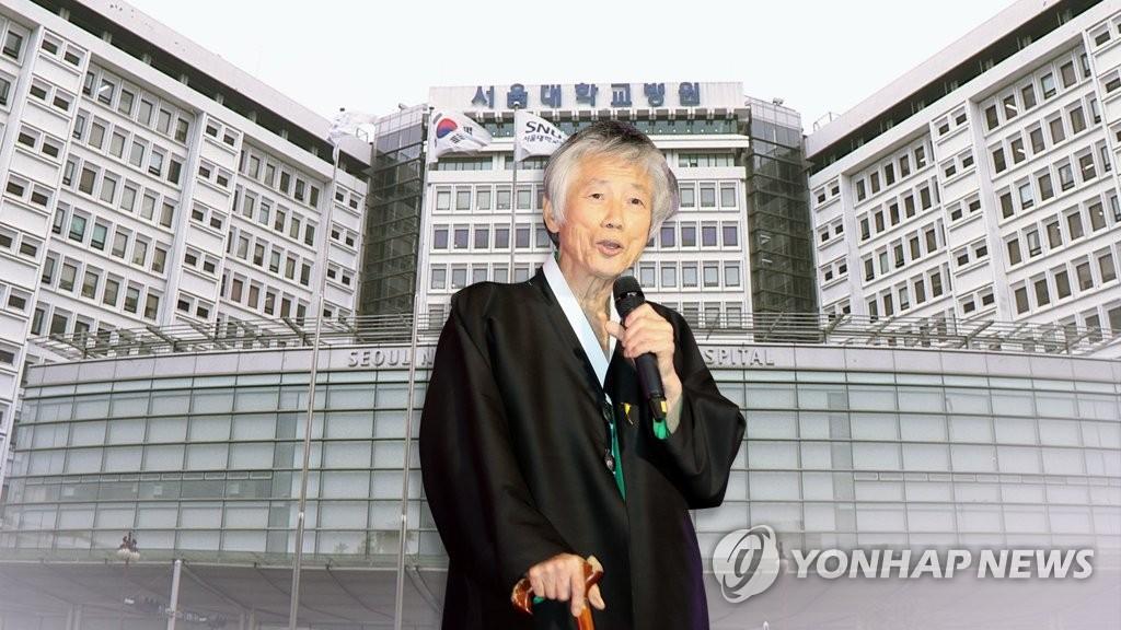 靑 시민사회수석, 백기완 선생 빈소 조문