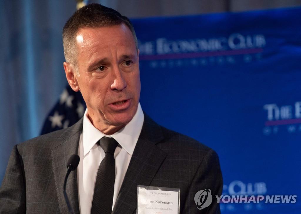 메리어트 인터내셔널 CEO 소렌슨, 췌장암으로 사망