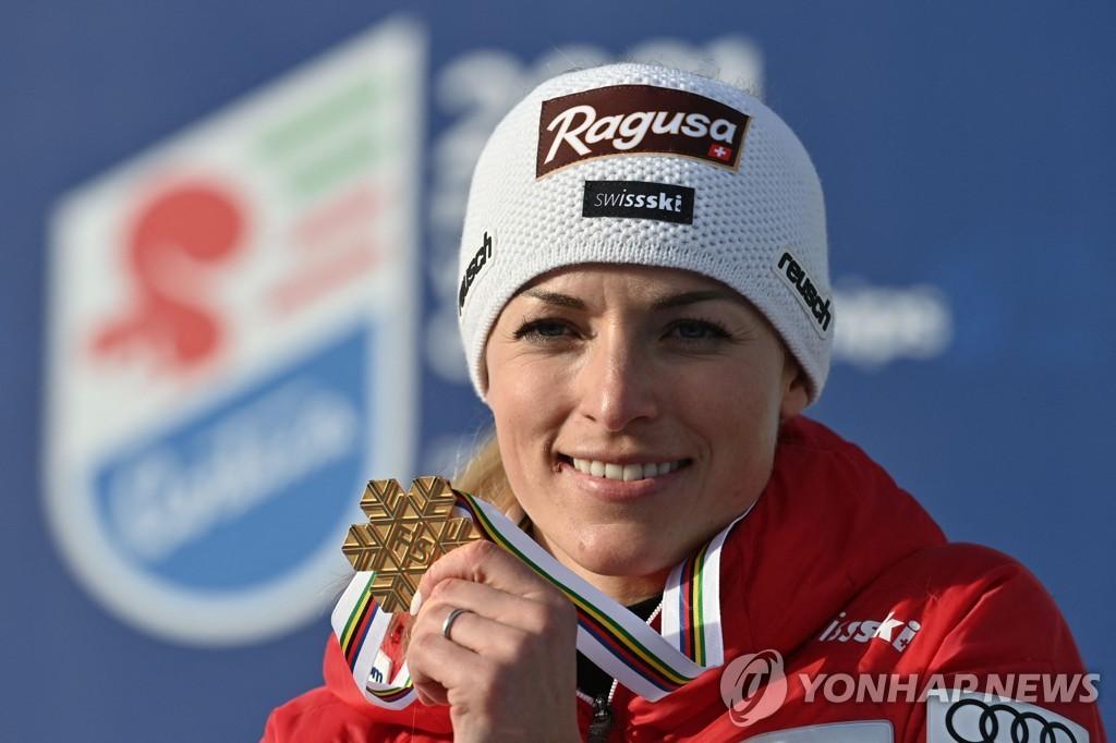 구트 베라미, 스키 세계선수권 여자 대회전 우승…시프린 2위