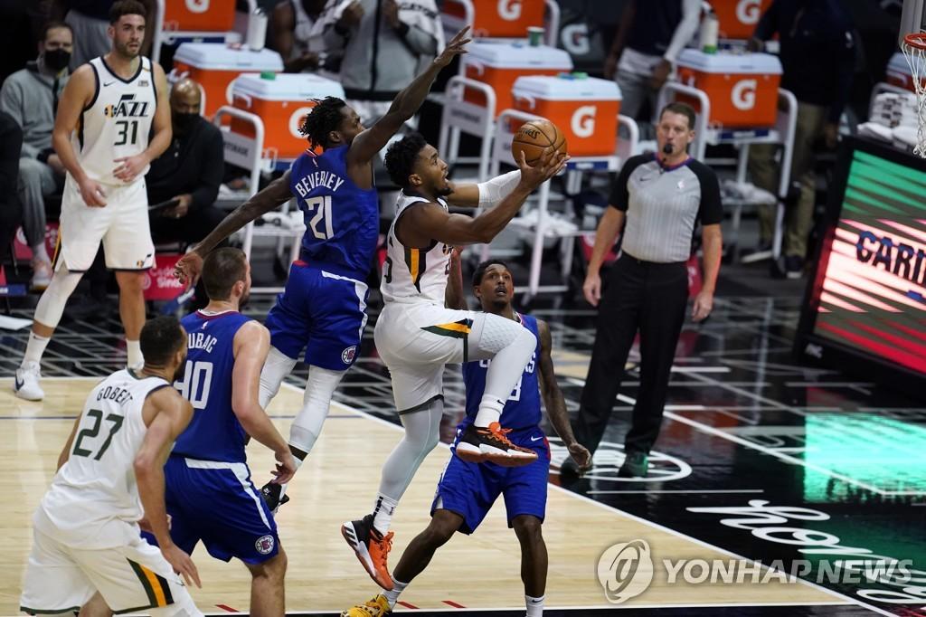 NBA 유타, 최근 21경기에서 20승 1패…'지는 법을 잊었다'