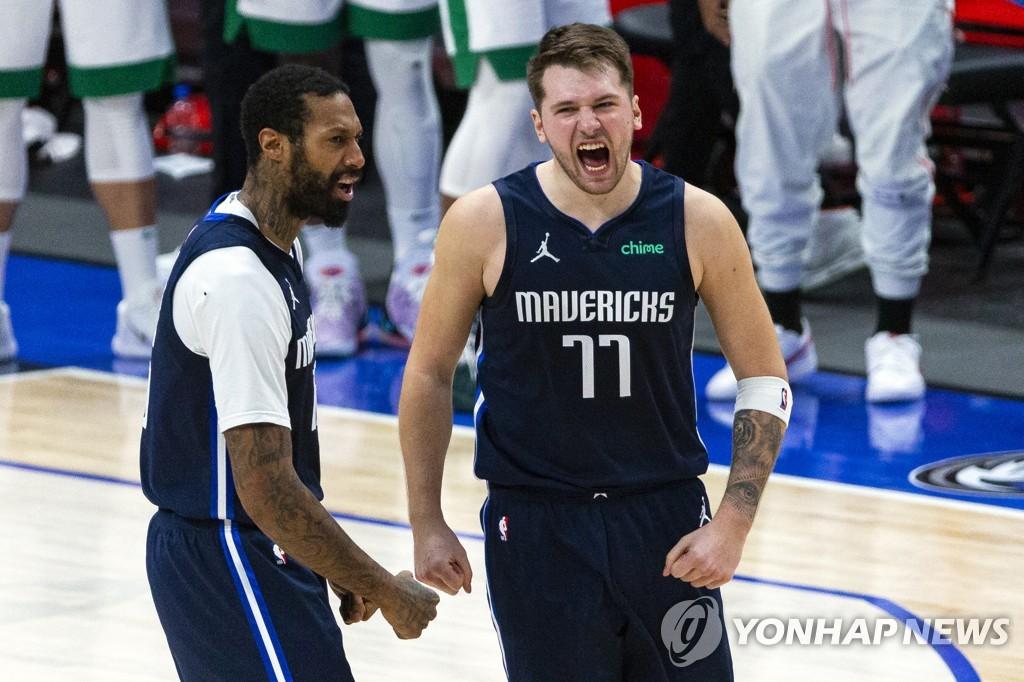 돈치치가 끝냈다…NBA 댈러스, 보스턴에 짜릿한 3점차 승리