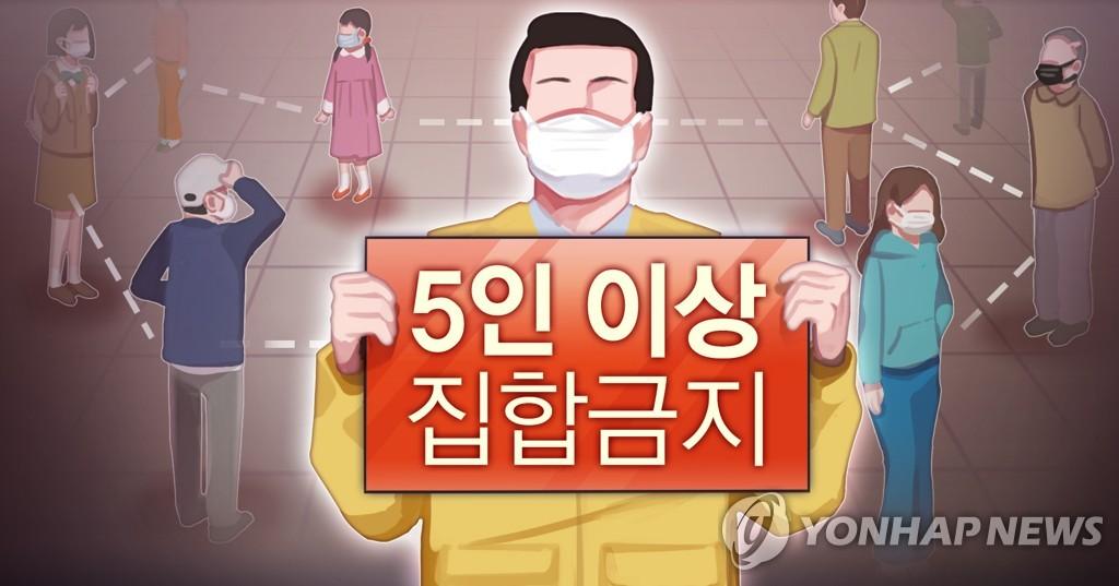 홍천군, 5인 이상 집합금지 위반 39명 과태료 부과