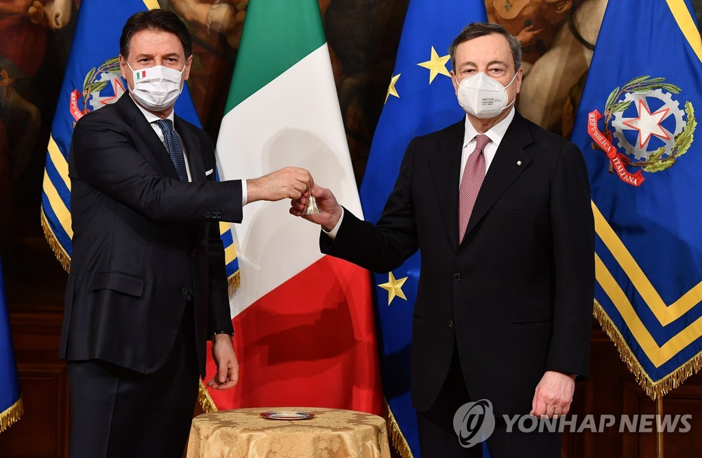 [특파원 시선] 이탈리아 드라기 총리의 '좌우동거 내각'…독일까, 득일까(종합)