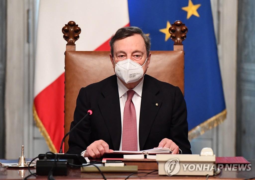 유로존 구한 '슈퍼 마리오' 드라기 이탈리아 총리 공식 취임(종합)